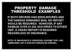 property damage threshold examples23