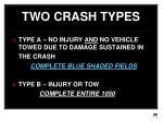 two crash types