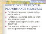 functional vs process performance measures