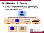bill of materials an example