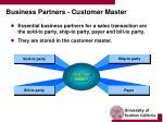 business partners customer master