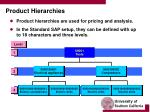 product hierarchies