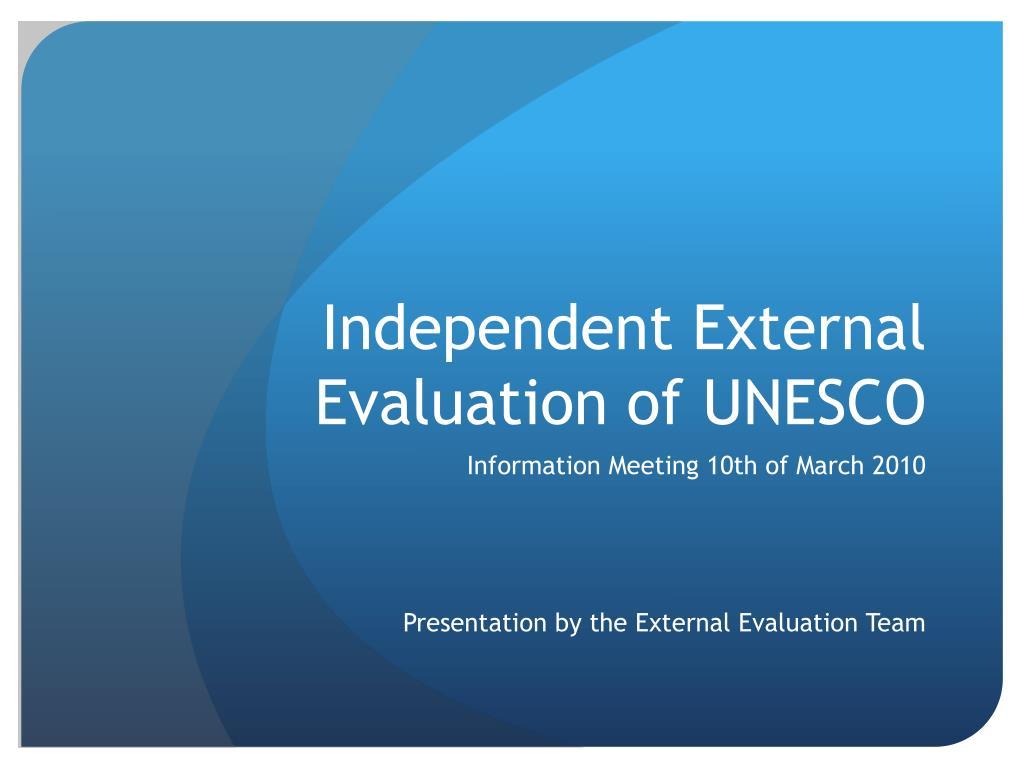 independent external evaluation of unesco l.
