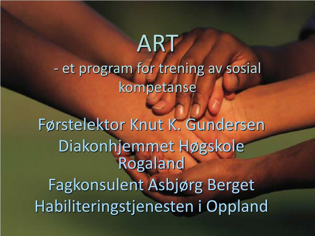 art et program for trening av sosial kompetanse l.