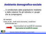 ambiente demografico sociale