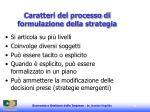 caratteri del processo di formulazione della strategia