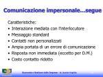 comunicazione impersonale segue112