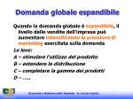 domanda globale espandibile