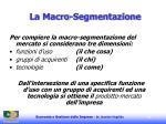 la macro segmentazione