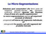 la micro segmentazione