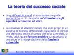la teoria del successo sociale35