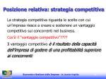 posizione relativa strategia competitiva