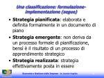 una classificazione formulazione implementazione segue