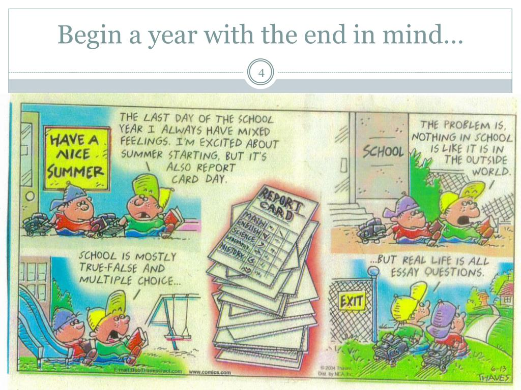 Begin a year with the end in mind…