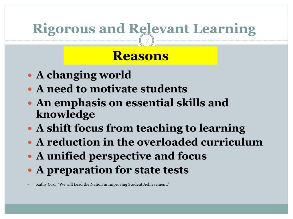 Rigorous and Relevant Learning