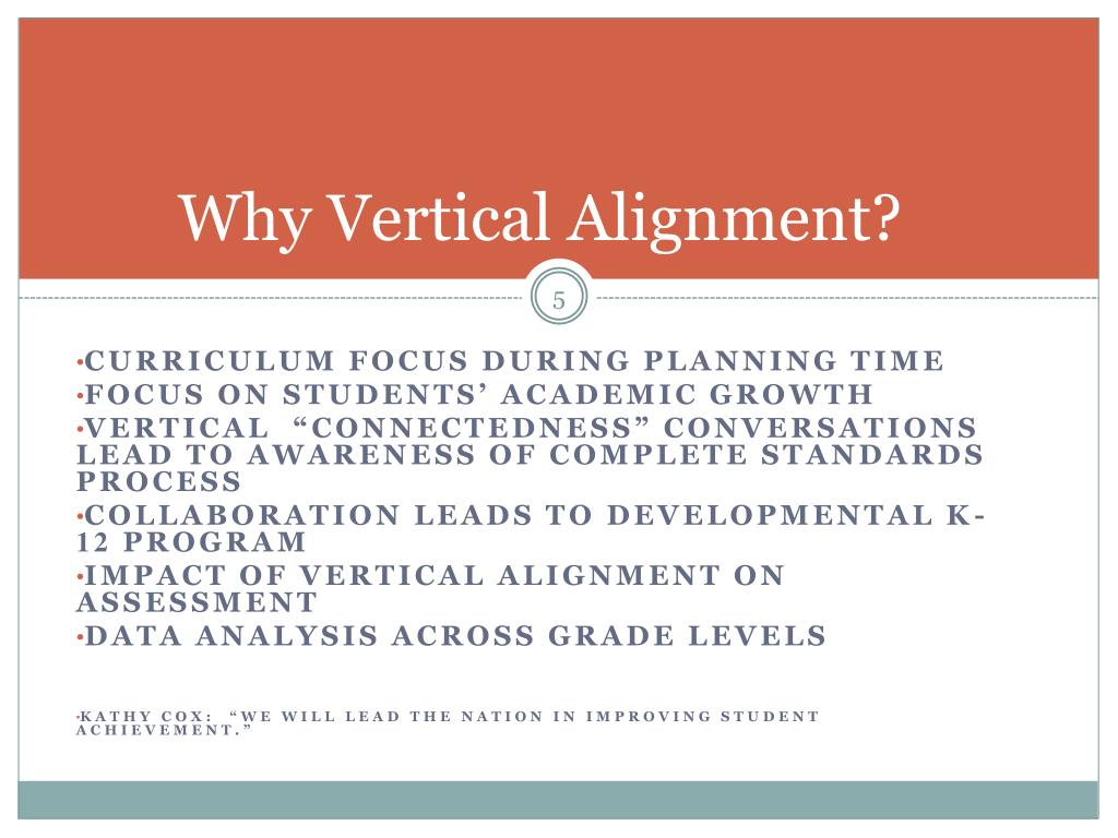 Why Vertical Alignment?