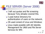 file server server 2008