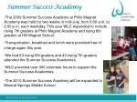 summer success academy