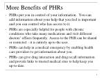 more benefits of phrs