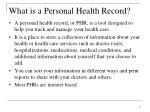 what is a personal health record