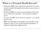what is a personal health record7