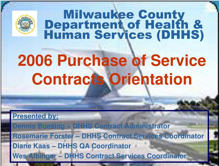 milwaukee county department of health human services dhhs n.