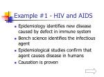 example 1 hiv and aids