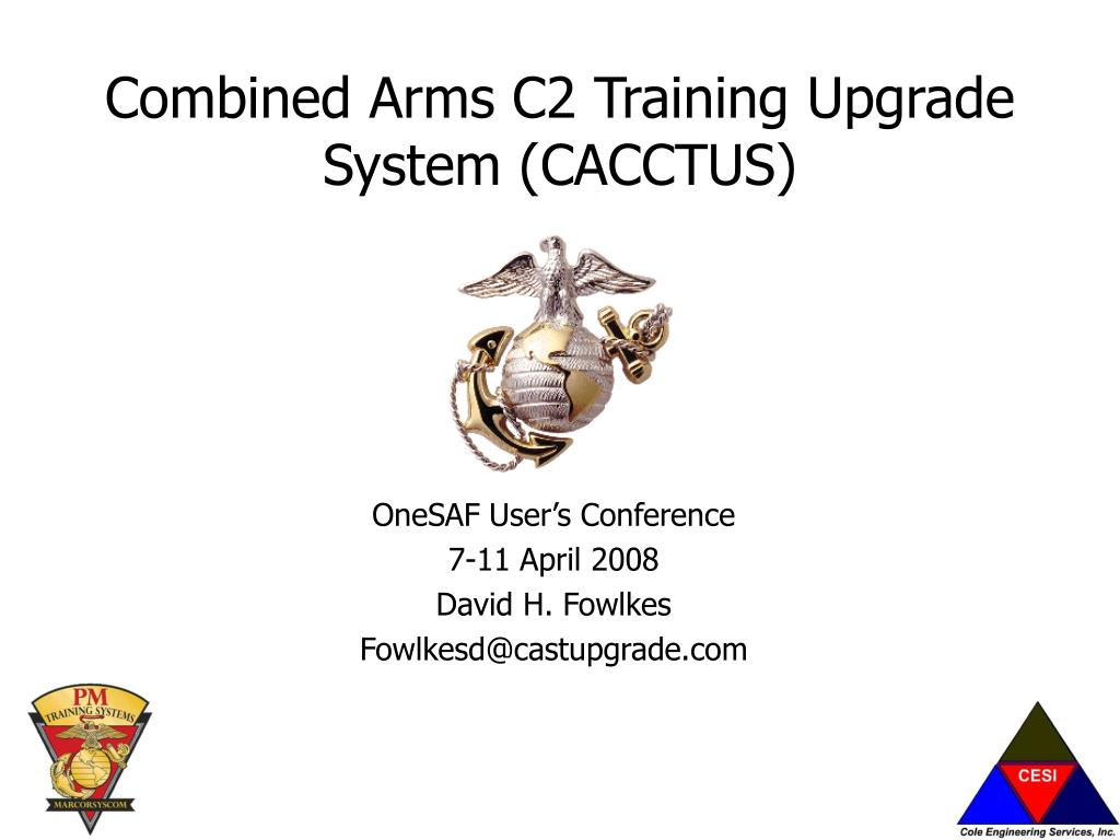 combined arms c2 training upgrade system cacctus l.