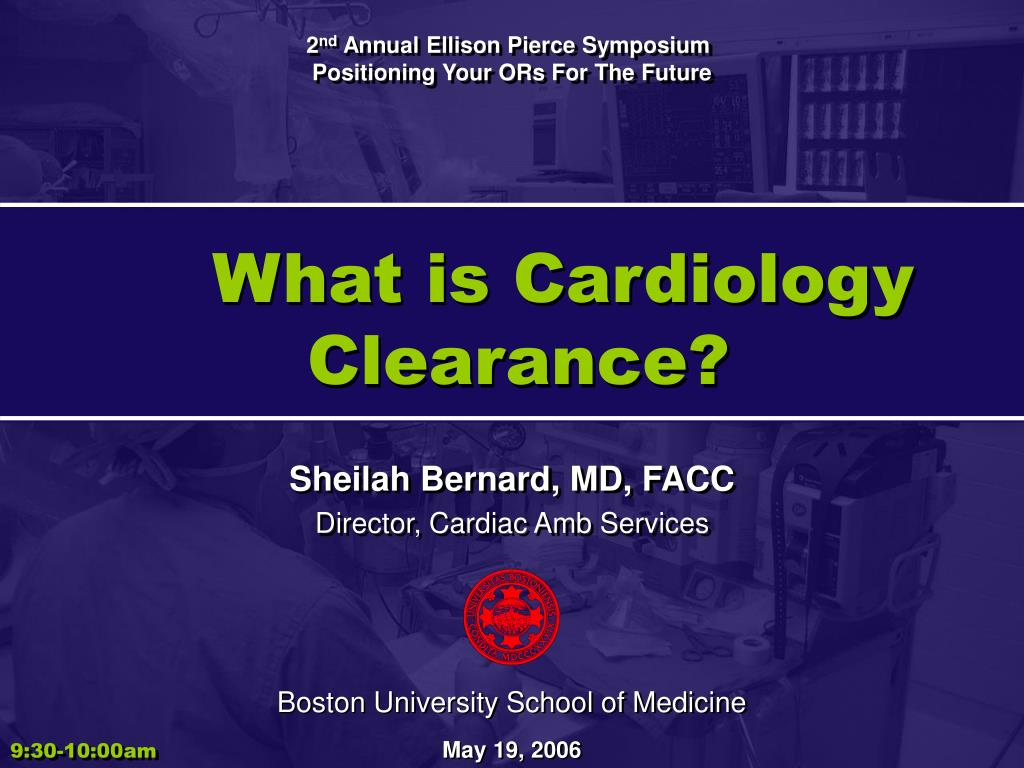 what is cardiology clearance l.