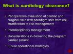 what is cardiology clearance26