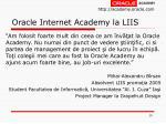 oracle internet academy la liis10