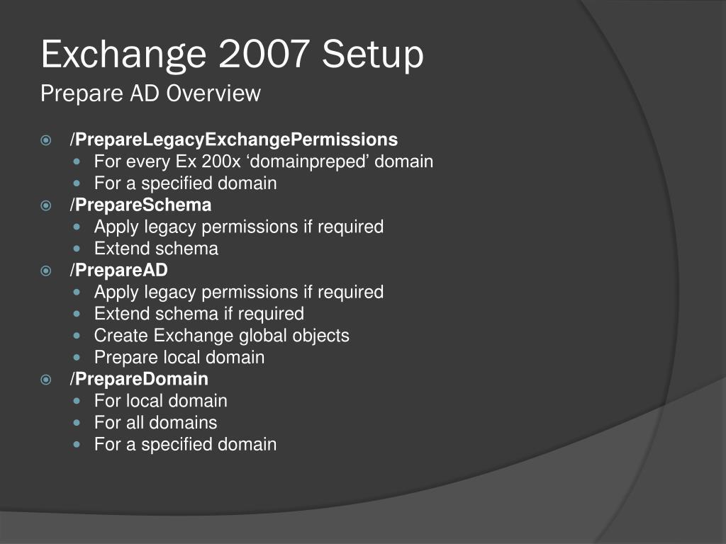 Exchange 2007 Setup