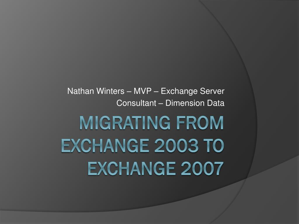 nathan winters mvp exchange server consultant dimension data l.