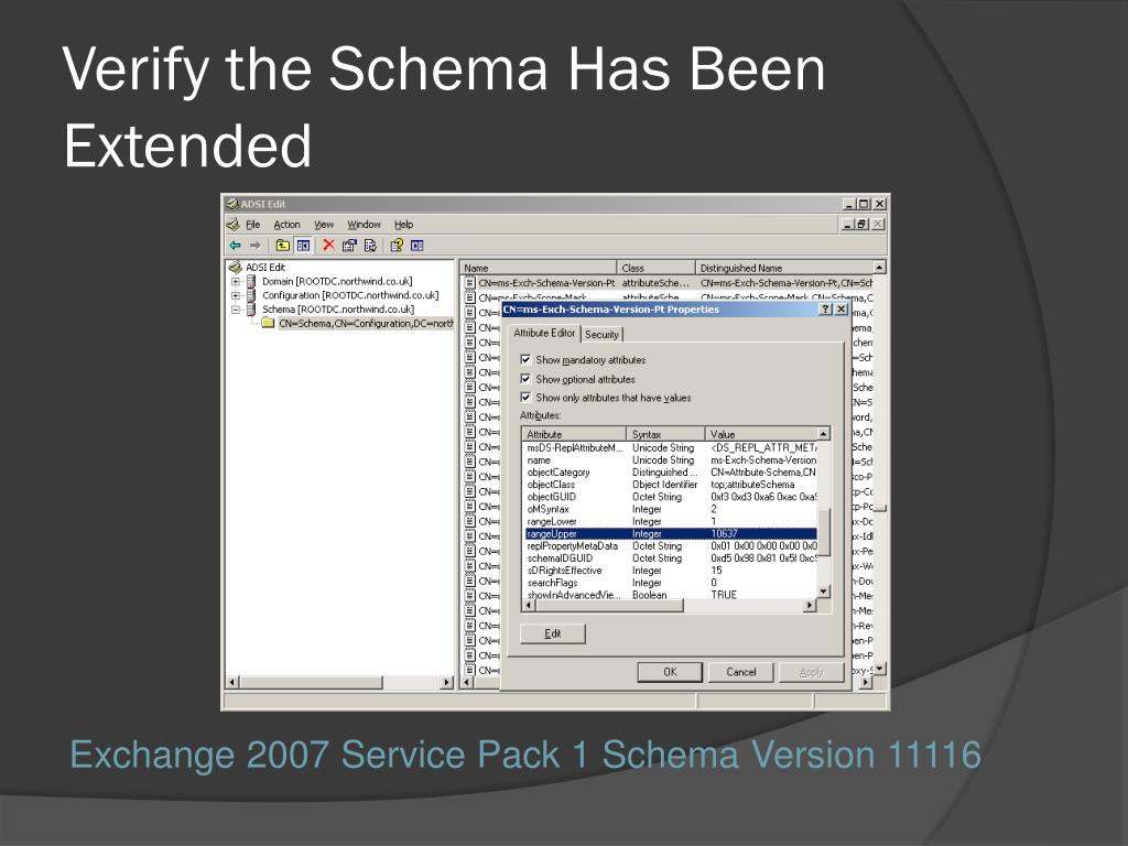 Verify the Schema Has Been Extended