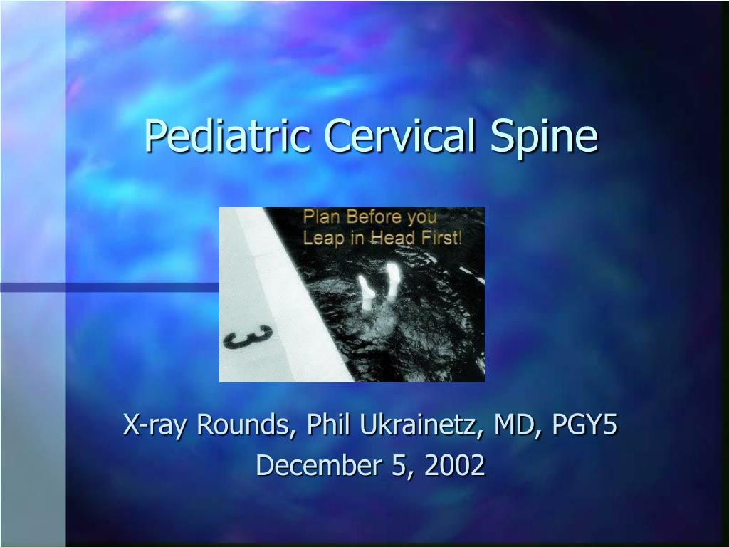 pediatric cervical spine l.