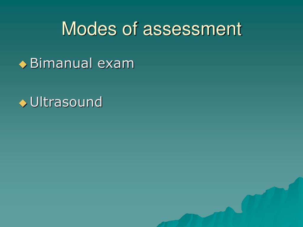 Modes of assessment