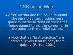 csr on the web