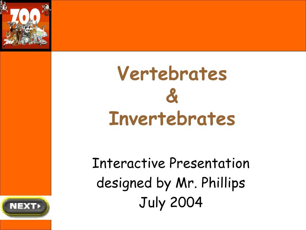vertebrates invertebrates l.