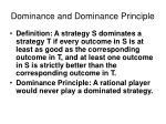 dominance and dominance principle