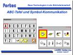 abc tafel und symbol kommunikation