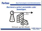 barrieren a priori vermeiden oder beseitigen