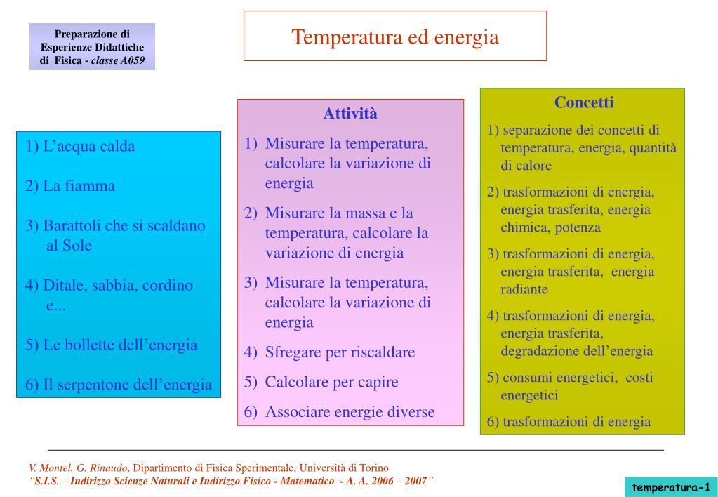temperatura ed energia l.