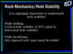 rock mechanics hole stability