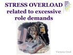 stress overload related to excessive role demands