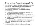 executive functioning ef