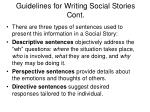 guidelines for writing social stories cont