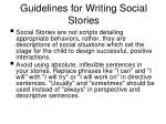 guidelines for writing social stories52
