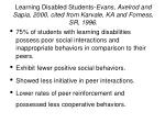 learning disabled students evans axelrod and sapia 2000 cited from karvale ka and forness sr 1996
