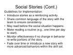 social stories cont