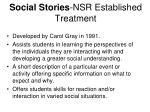 social stories nsr established treatment
